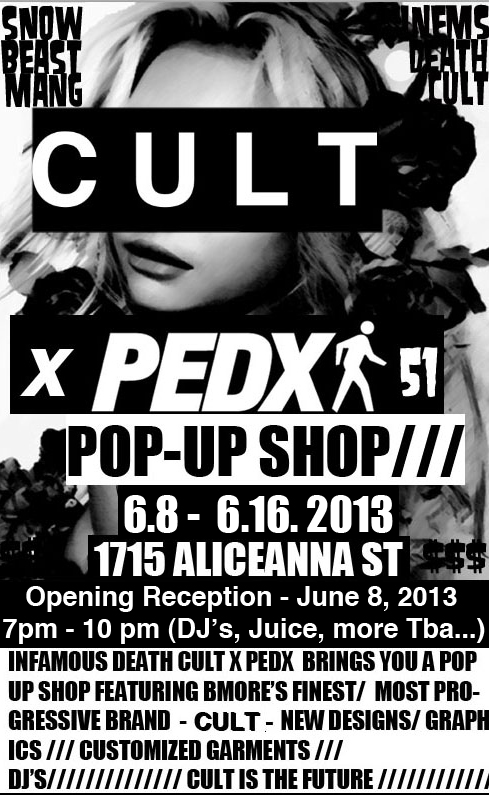 CULT X PEDX POP-UP SHOP 2013